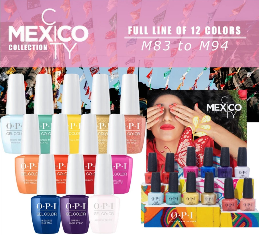 Nail Art Video Download Mp4: OPI Mexico City, Gel-Lacquer, 12 Colors